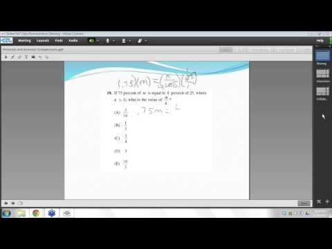 Method Test Prep FREE SAT & ACT Prep Class Incorrect Comparisons and Percents