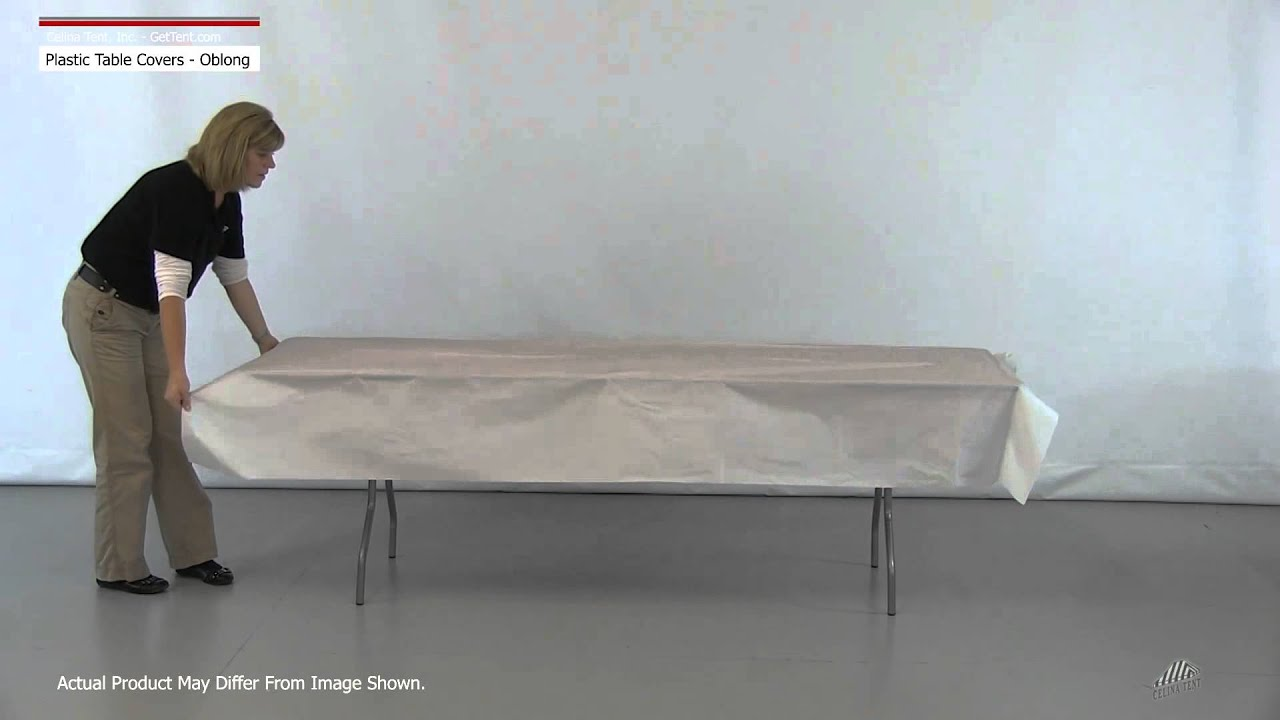 Rectangle Plastic Table Covers Table Throw Youtube