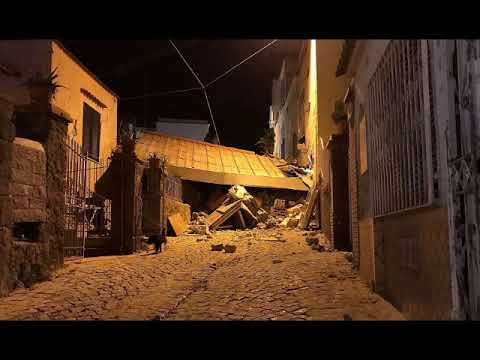 Earthquake at Ischia, italian tourist island, houses are damaged