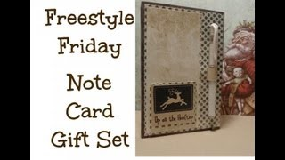 Freestyle Friday Note Card Holder Gift