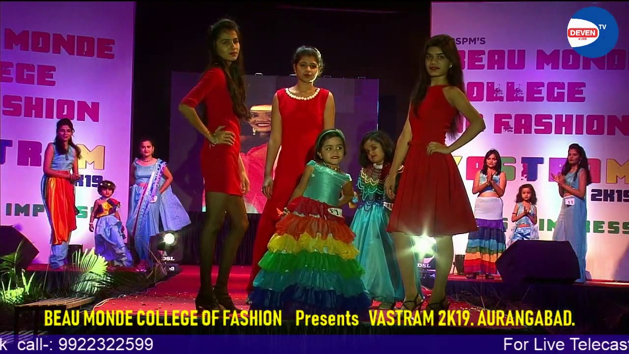 Fashion Show Beau Monde College Of Fashion Presents Vastram 2k19 Aurangabad Youtube