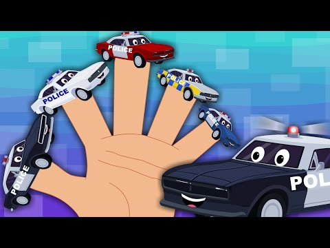 Happy and Sweety |Police Car Finger Family | Car Song | Kids Nursery Rhyme
