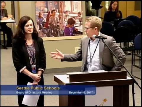 Seattle School Board Meeting December 6, 2017 Part 2