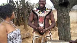 Carmolina in Shakaland with the Zulus