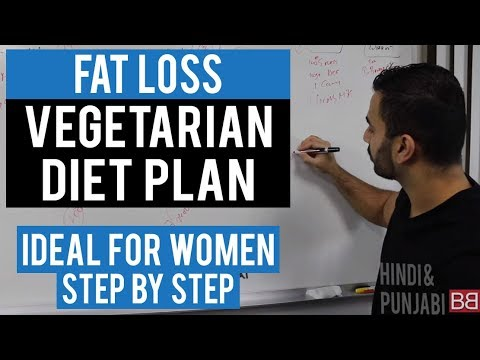 FAT LOSS VEGETARIAN Diet Plan for Women! (Hindi / Punjabi)