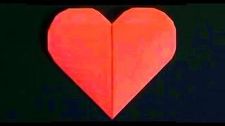 Как сделать сердце из бумаги. Оригами сердце. Origami heart