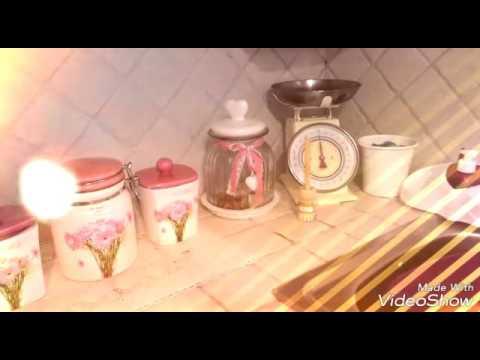 la mia cucina shabby chic - YouTube
