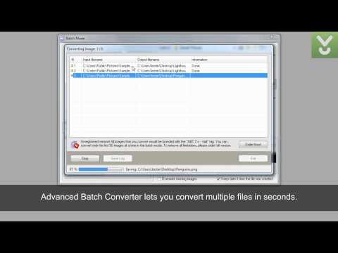 Advanced Batch Converter - Batch Convert Images Between Over 300 Formats - Download Video Previews