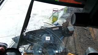 Cat 289D3 skid steer with a new smart blade from Cat