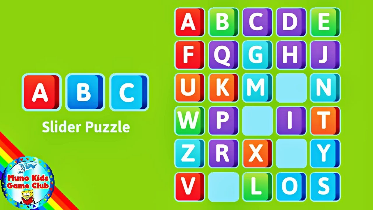 Abc Teppiche Abc Slider Puzzle Alphabet Puzzle Game For Kids Educational Activity For Kids