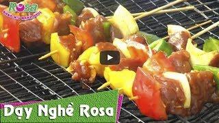 Cách làm món Bò nướng ớt chuông cho tiệc BBQ