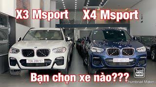 BMW X3 Msport và X4 Msport đâu là xe dành cho bạn? H3T hiện đang sẵn 02 xe BMW: - BMW X3 30i Msport sản xuất 2019, màu trắng nội thất kem, lăn bánh ...