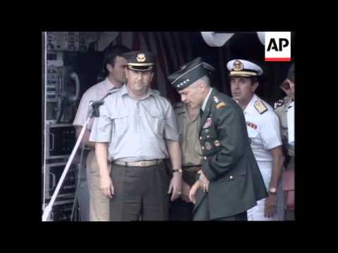 ALBANIA: NATO CHIEF COMMANDER GENERAL WESLEY CLARK VISIT