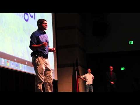 Student David Slater at 2013 Dripping Springs Convocation