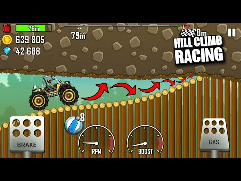 Hill Climb Racing - How To Pass These Logs???