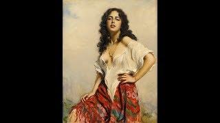 Boleslaw Von Szankowski Polish 1873 1953 La Ragazza Di Bube Francis Goya