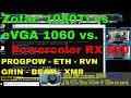 Zotac AMP Extreme 1080Ti vs eVGA GTX 1060 6gb vs Powercolor RX590 8GB PROGPOW ETH GRIN BEAM RVN