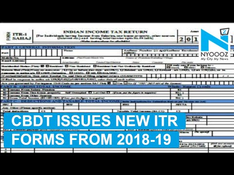 CBDT- Salary Breakup, GST ID to be Furnished in New ITR Forms | NYOOOZ TV