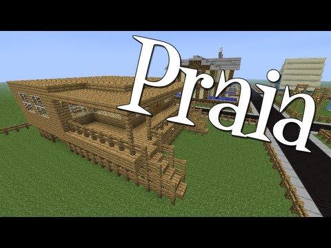 Tutoriais minecraft como construir uma casa de praia - Casas para construir ...