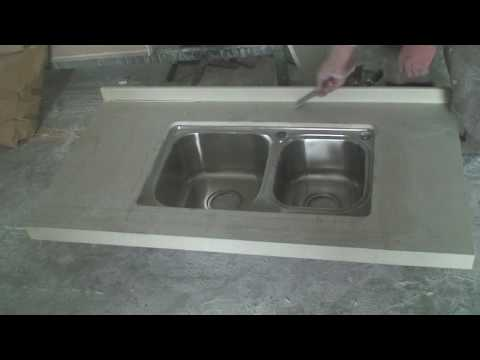 How to clean the glue after join the quartz countertop