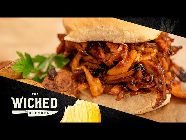 World Famous BBQ Pulled Mushroom Sandwich 2.0 (Vegan Pulled