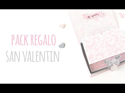 Pack regalo San Valentín - TUTORIAL Scrapbook