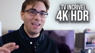 A MELHOR TV 4K HDR do Mercado? | Excelente TV Para Games e Entretenimento