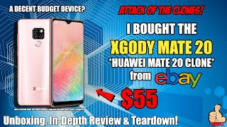 I BOUGHT THE XGODY MATE 20 FOR $55 (Huawei Mate 20 Clone) - IS THIS A DECENT BUDGET PHONE?