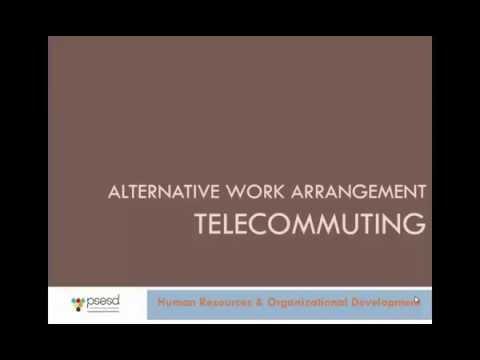 Alternative Work Arrangement Telecommuting Training