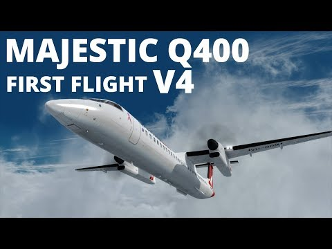 My First Flight | Majestic Dash 8 Q400