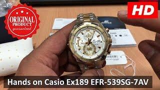 Hands On Casio Edifice Ex189 EFR-539SG-7AV   STANDARD CHRONOGRAPH 4K (HD)