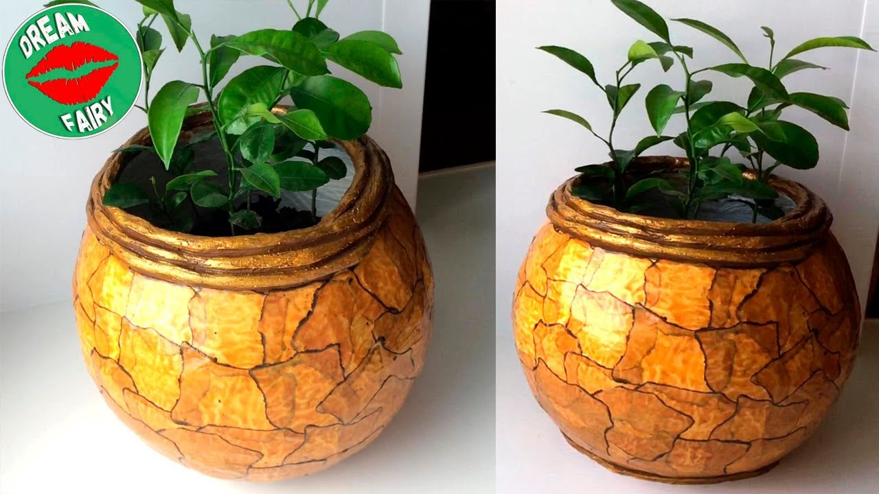 Download How to make a cement pot at home / Marble Imitation