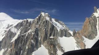 Heli flight over Mont Blanc