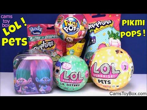 LOL Surprise Pets Lil Sisters Pikmi POPS Shopkins Trolls Tin Blind Bag Toys Series 3 2 Fun Radz Kids