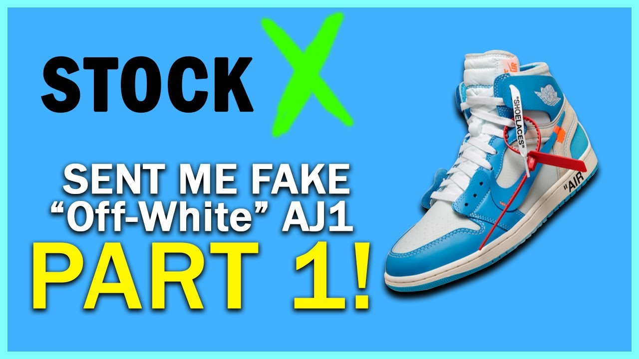 f695e86dd1f2fb STOCKX SENT ME FAKE OFF WHITE x AJ1 ! WHAT HAPPENED NEXT ! - YouTube