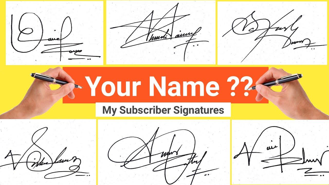 ✔️ How To Write A Signature  How To Write My Signature  How To Write Your  Signature [ #Signature ]