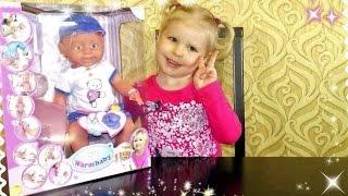 Warm baby распаковка куклы пупса кушает какает пьет писает одеваем подгузник