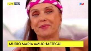 Murió María Amuchástegui