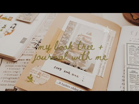 6. journal with me + my mini book tree
