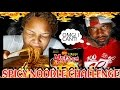 THE HOT & SPICY NOODLE CHALLENGE || THE BEST SPICY NOODLE CHALLENGE VIDEO (EATING SHOW) MUKBANG