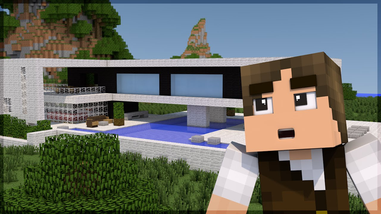 Minecraft construindo uma casa moderna build battle for Casas modernas no minecraft