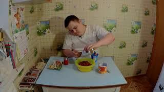Вкусный салат за 100 рублей и 3 минуты!