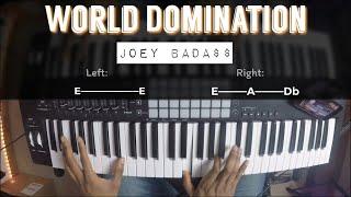 World Domination - Joey Badass |Piano Tutorial