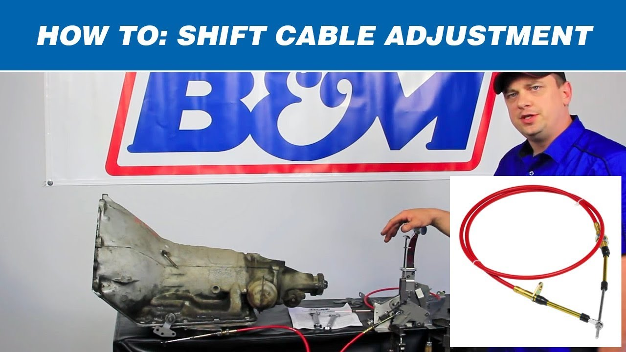 how to adjust a b m automatic shifter cable [ 1280 x 720 Pixel ]