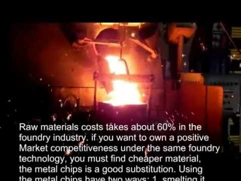 metal chips briquetting machine advantage in foundry