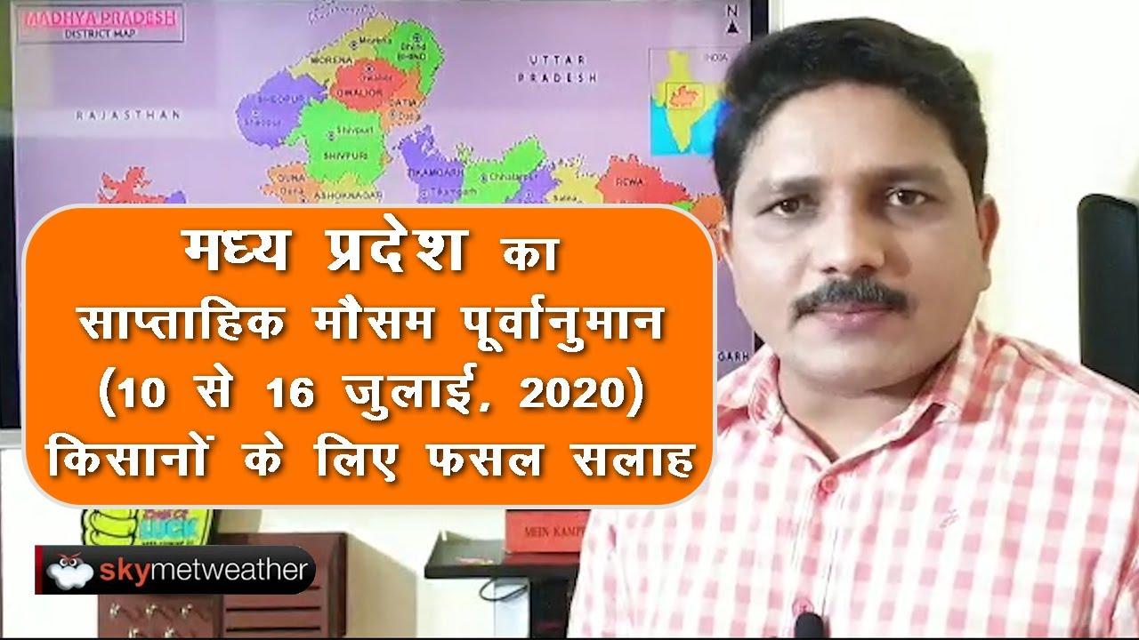 मध्य प्रदेश का साप्ताहिक मौसम पूर्वानुमान (10 से16 जुलाई, 2020), फसल सलाह   Skymet Weather