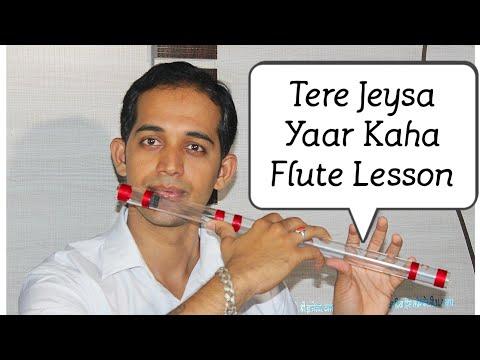 Tere Jesa Yaar Kaha Flute Lesson Tutorial By Pravin Gulve Flute Cover