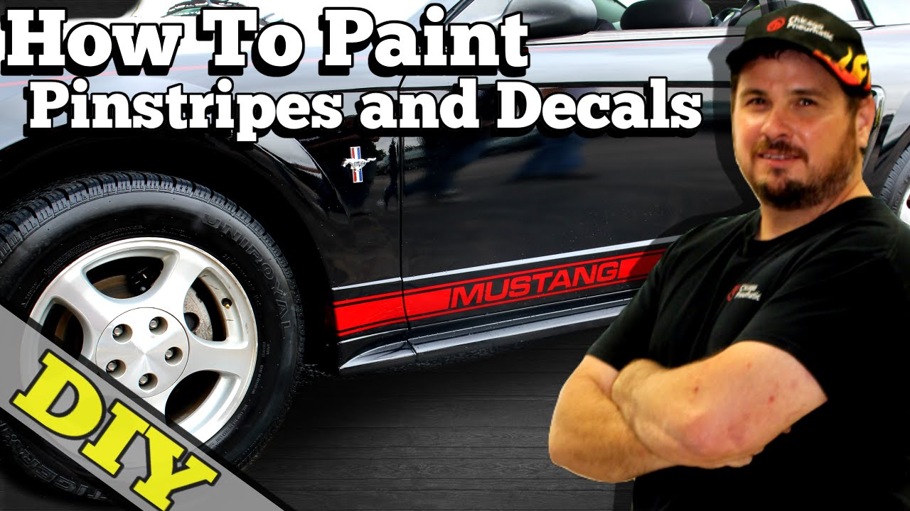 How to paint pinstripes and decals the easy way eastwood mustang project youtube