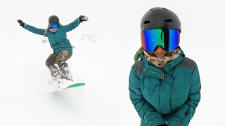 Her Last Day of Snowboarding was Crazy!