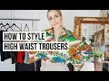HOW TO STYLE HIGH WAIST TROUSERS// FEATURING 4 DIFFERENT BODY TYPES